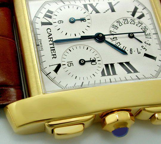 Foto 3, Cartier Herren Tank Francaise Chronograph Topuhr Neuz.!, U1989