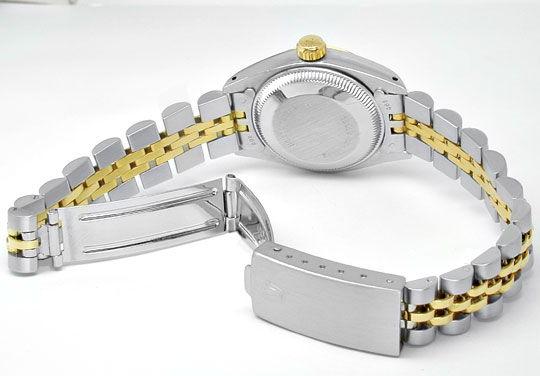 Foto 3, Rolex Date Damen Armbanduhr Stahl Gold Automatik Topuhr, U1999