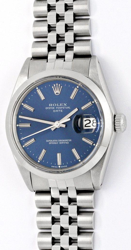 Foto 2, Rolex Date Oyster Perpetual Chronometer Herrenuhr Stahl, U2005