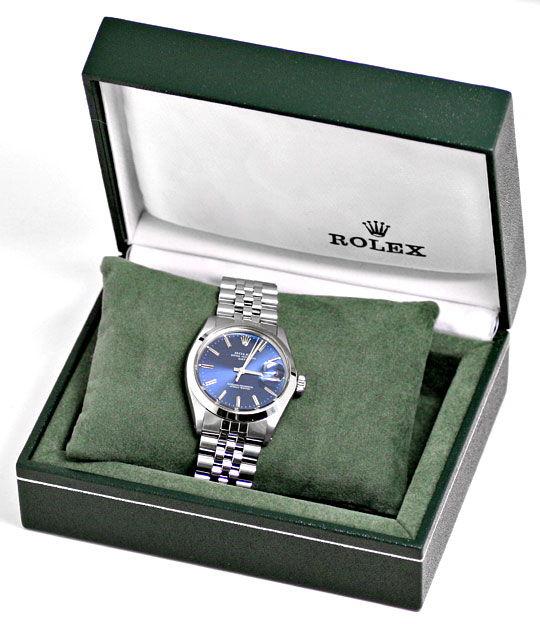 Foto 8, Rolex Date Oyster Perpetual Chronometer Herrenuhr Stahl, U2005