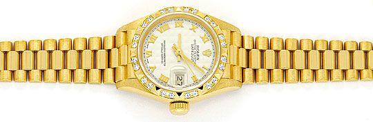 Foto 1, Rolex Lady Datejust Gelbgold, Pyramiden Diamant Lünette, U2007