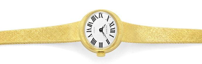 Foto 1, Oebra Damen Uhr in massiv 14K Gelbgold Milanaisearmband, U2024