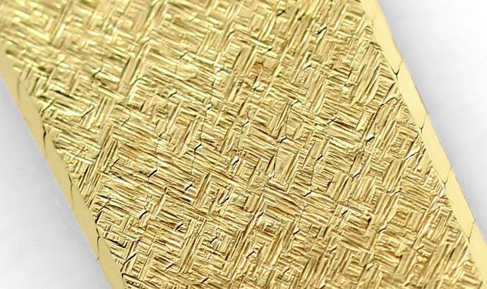 Foto 3, Oebra Damen Uhr in massiv 14K Gelbgold Milanaisearmband, U2024