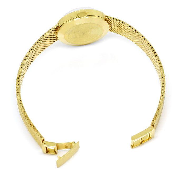Foto 4, Oebra Damen Uhr in massiv 14K Gelbgold Milanaisearmband, U2024