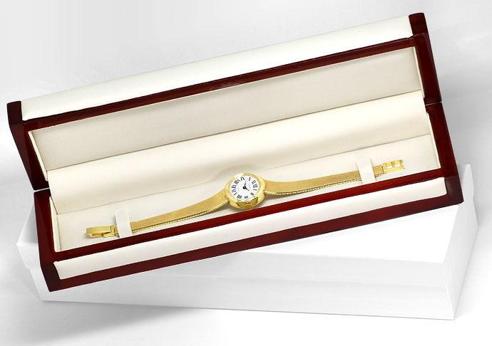Foto 5, Oebra Damen Uhr in massiv 14K Gelbgold Milanaisearmband, U2024