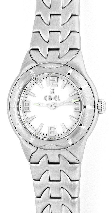 Foto 2, Ebel Uhr Mini E Type Etype Edelstahl Armband Ungetragen, U2025
