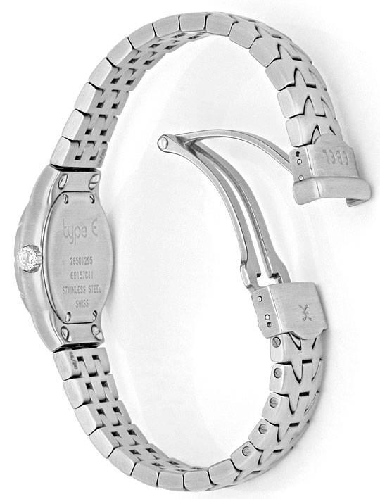 Foto 8, Ebel Uhr Mini E Type Etype Edelstahl Armband Ungetragen, U2025