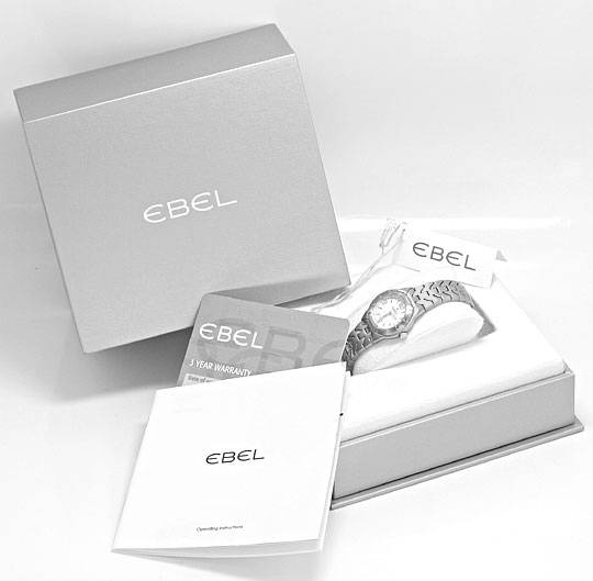 Foto 9, Ebel Uhr Mini E Type Etype Edelstahl Armband Ungetragen, U2025