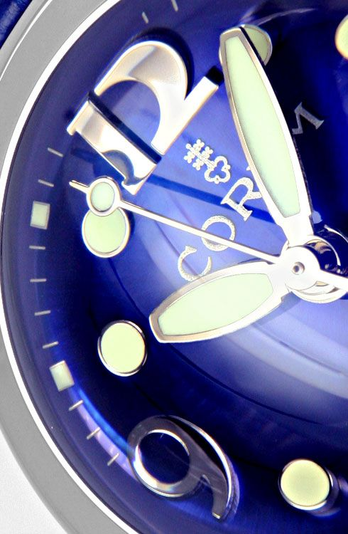 Foto 3, Bubble Corum Medium Uhr Königsblau Edelstahl Ungetragen, U2026