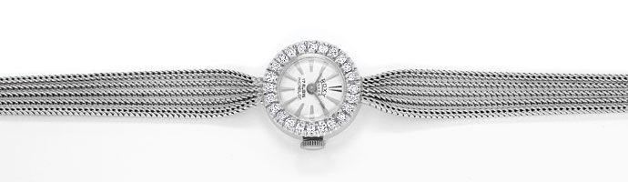 Foto 1, Roxy Damen Armbanduhr, mit Diamanten Lünette, Weissgold, U2027
