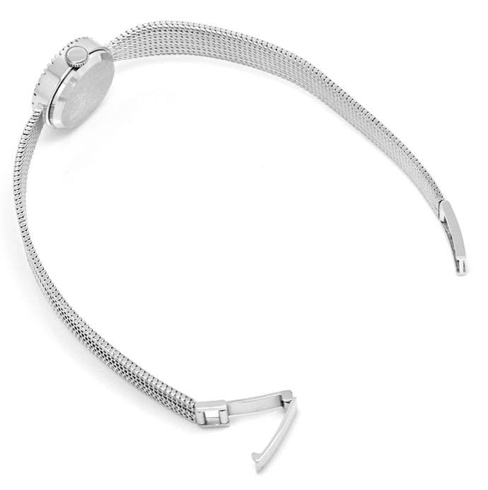 Foto 3, Roxy Damen Armbanduhr, mit Diamanten Lünette, Weissgold, U2027