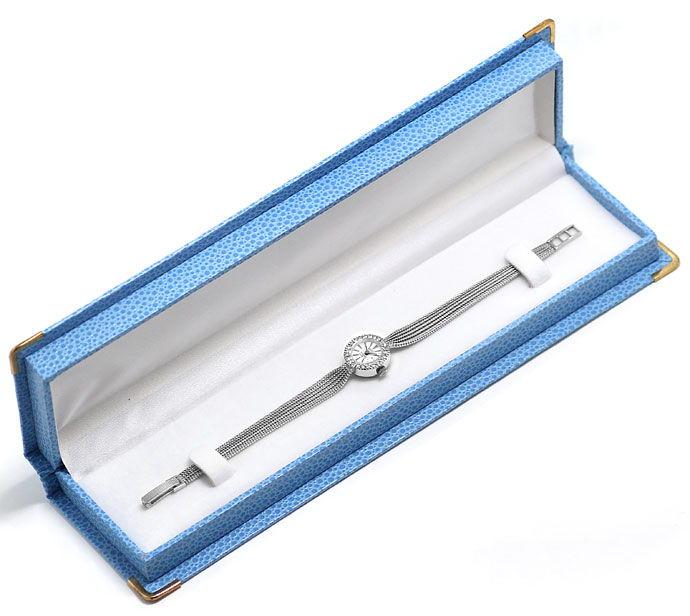 Foto 4, Roxy Damen Armbanduhr, mit Diamanten Lünette, Weissgold, U2027