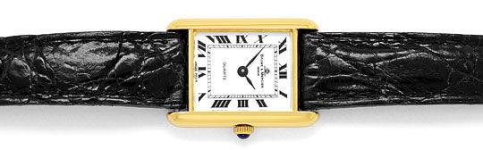 Foto 1, Baume und Mercier Damen-Uhr, 18K Gelbgold Kroko-Armband, U2031