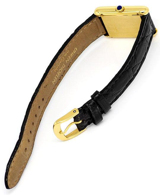 Foto 3, Baume und Mercier Damen-Uhr, 18K Gelbgold Kroko-Armband, U2031