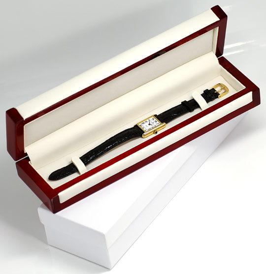 Foto 4, Baume und Mercier Damen-Uhr, 18K Gelbgold Kroko-Armband, U2031