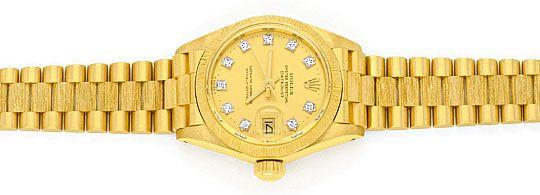Foto 1, Rolex Datejust Damen Uhr Gelb Gold Diamanten Neuzustand, U2032