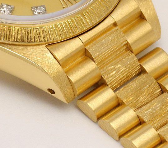 Foto 4, Rolex Datejust Damen Uhr Gelb Gold Diamanten Neuzustand, U2032
