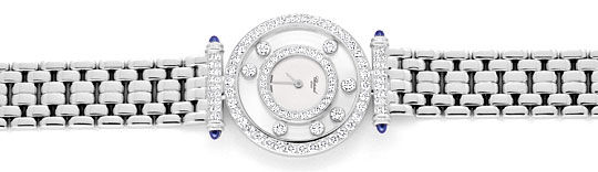 Foto 1 - Chopard Happy Diamonds Safire Weissgold Damenarmbanduhr, U2038