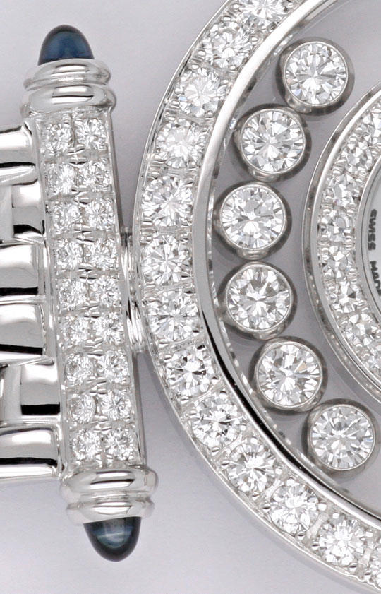 Foto 5 - Chopard Happy Diamonds Safire Weissgold Damenarmbanduhr, U2038
