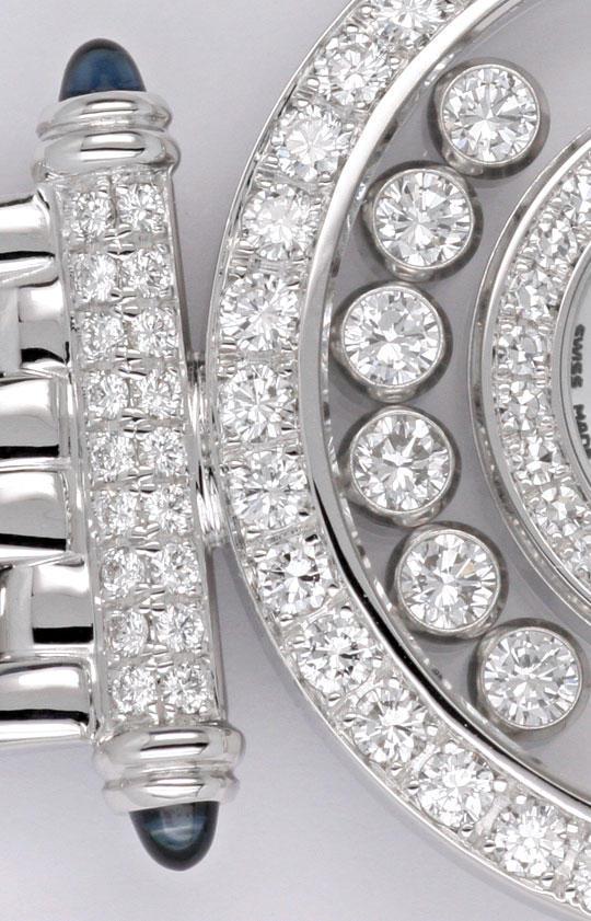 Foto 5, Chopard Happy Diamonds Safire Weissgold Damenarmbanduhr, U2038