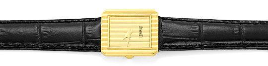 Foto 1, Piaget Polo Längsstreifen Damenarmbanduhr 18K Gelb-Gold, U2043