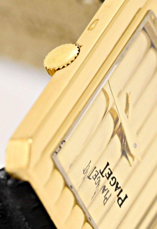 Foto 4, Piaget Polo Längsstreifen Damenarmbanduhr 18K Gelb-Gold, U2043