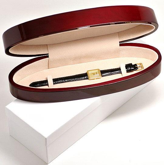 Foto 6, Piaget Polo Längsstreifen Damenarmbanduhr 18K Gelb-Gold, U2043