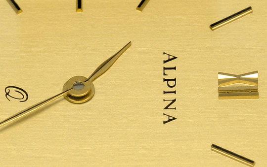 Foto 3, Alpina Herrenarmbanduhr Classic 14K Gelbgold Neuzustand, U2047