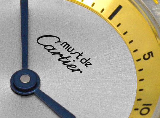 Foto 3, Cartier 21 Must.de Cartier, Montre 21, Herren Stahlgold, U2049