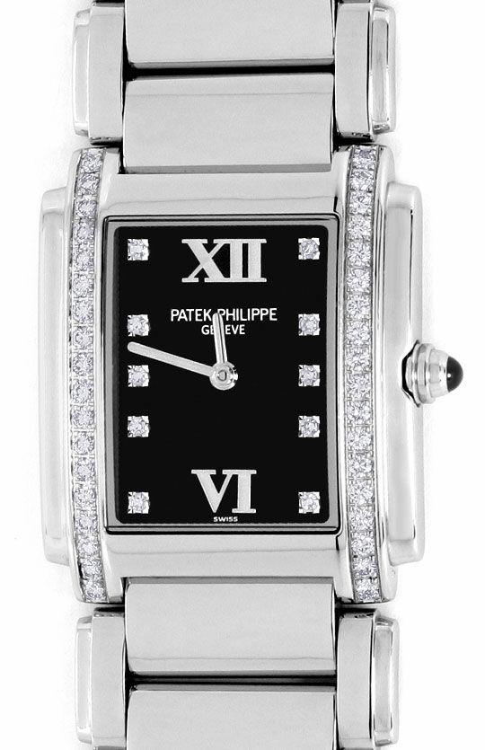 Foto 2, Patek Philippe Twenty 4, Diamanten, Edelstahl Damen-Uhr, U2052