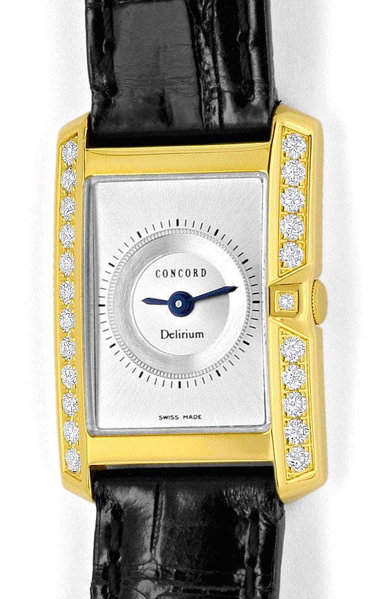 Foto 2, Concord Delirium Diamanten Damen Uhr Absolut Ungetragen, U2056