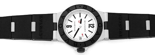 Foto 1, Bulgari Bvlgari Diagono Aluminium Kautschuk, Medium Uhr, U2059