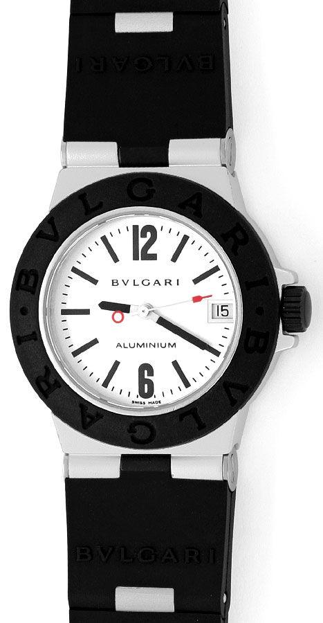 Foto 2, Bulgari Bvlgari Diagono Aluminium Kautschuk, Medium Uhr, U2059