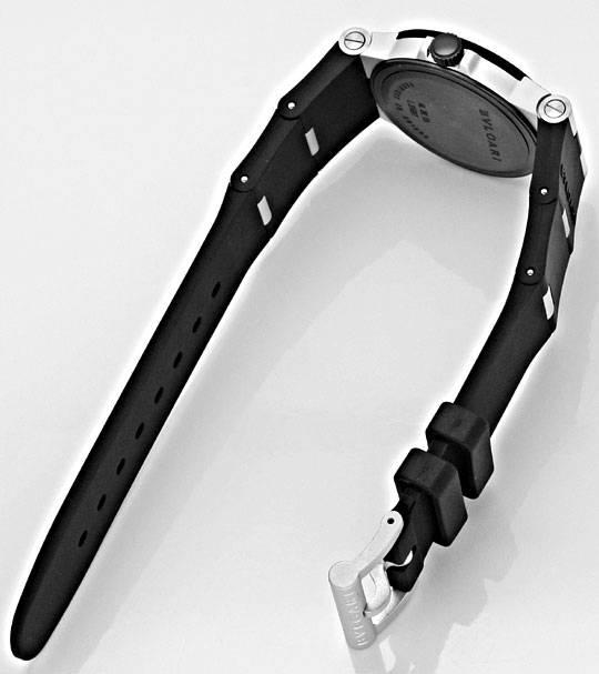 Foto 5, Bulgari Bvlgari Diagono Aluminium Kautschuk, Medium Uhr, U2059