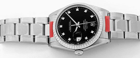 Foto 1, Rolex Datejust Herren Uhr Edelstahl Diamant Zifferblatt, U2064
