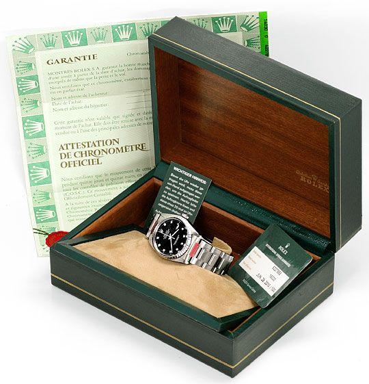 Foto 6, Rolex Datejust Herren Uhr Edelstahl Diamant Zifferblatt, U2064