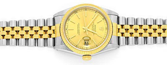 Foto 1, Rolex Datejust Herren-Armbanduhr Stahlgold Jubilee Neuw, U2065