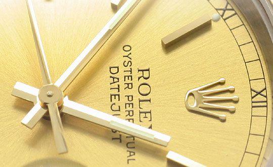 Foto 3, Rolex Datejust Herren-Armbanduhr Stahlgold Jubilee Neuw, U2065