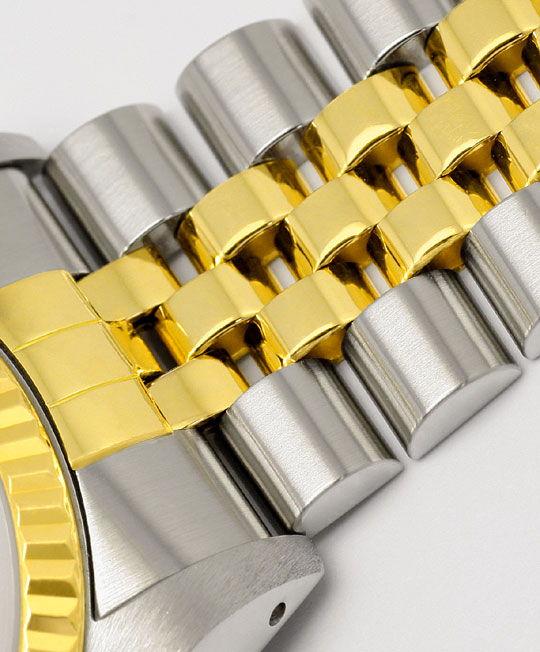 Foto 4, Rolex Datejust Herren-Armbanduhr Stahlgold Jubilee Neuw, U2065