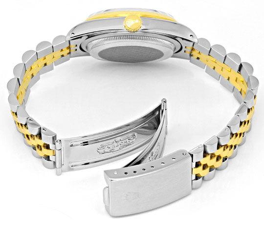 Foto 5, Rolex Datejust Herren-Armbanduhr Stahlgold Jubilee Neuw, U2065