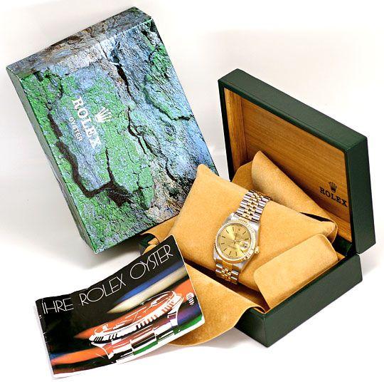 Foto 6, Rolex Datejust Herren-Armbanduhr Stahlgold Jubilee Neuw, U2065