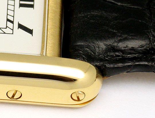 Foto 3, Cartier Tank Louis Cartier Damen 18K Gold Faltschliesse, U2067