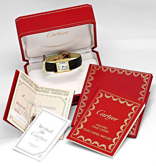 Foto 6, Cartier Tank Louis Cartier Damen 18K Gold Faltschliesse, U2067