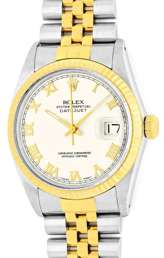 Foto 2, Rolex Datejust Stahl-Gold Herren Jubilee-Band Automatik, U2073