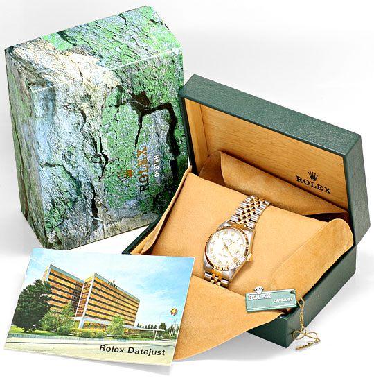 Foto 6, Rolex Datejust Stahl-Gold Herren Jubilee-Band Automatik, U2073