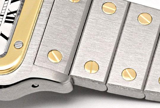Foto 4, Cartier Santos Stahl-Gold Automatik Herrenuhr Neuwertig, U2080