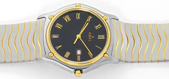 Foto 1, Ebel Sport Classic Wellen Armband Senior Uhr Stahl Gold, U2086