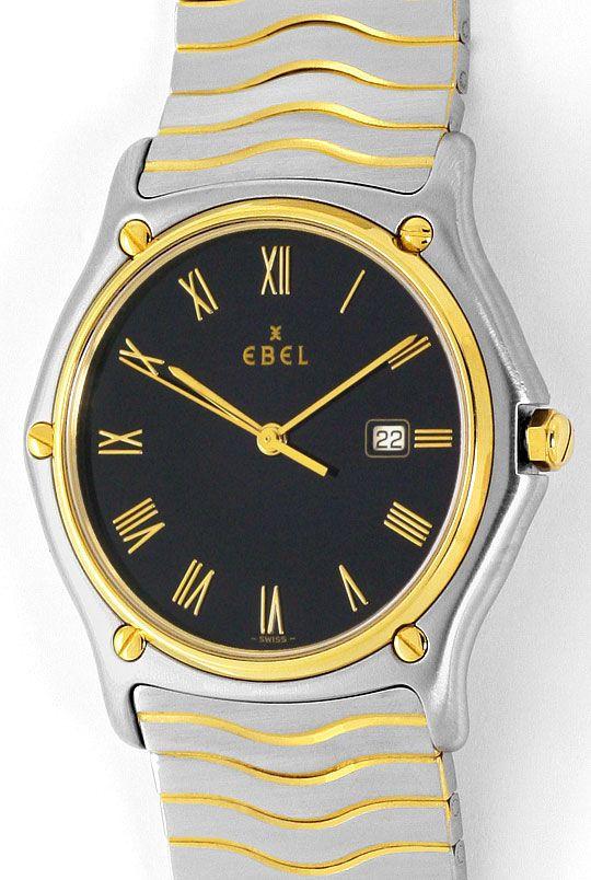 Foto 2, Ebel Sport Classic Wellen Armband Senior Uhr Stahl Gold, U2086