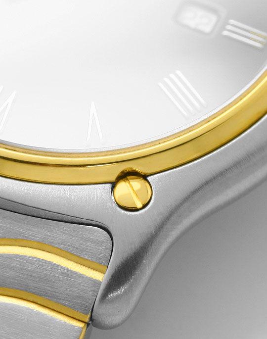 Foto 4, Ebel Sport Classic Wellen Armband Senior Uhr Stahl Gold, U2086