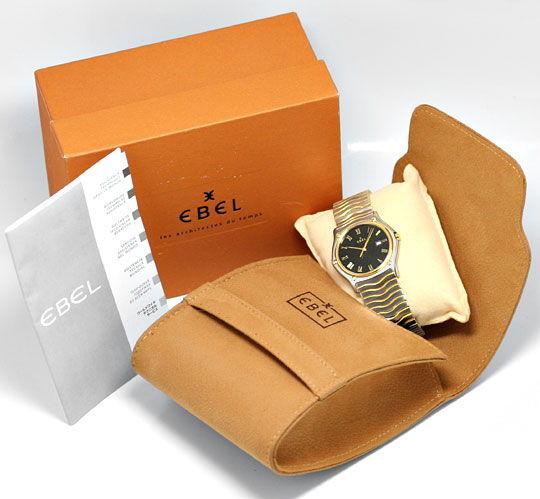 Foto 6, Ebel Sport Classic Wellen Armband Senior Uhr Stahl Gold, U2086